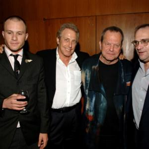 Terry Gilliam, Heath Ledger, Charles Roven, Bob Weinstein