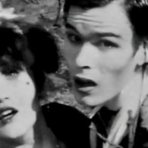 Barbie Wilde with Sean Crawford Tok from Tik and Tok in the video to Ultravoxs 1981 single Passing Strangers