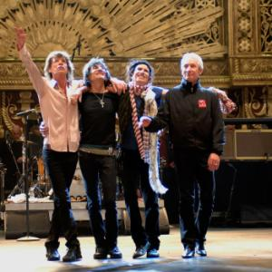 Mick Jagger, Kevin Mazur, Keith Richards, Charlie Watts, Ron Wood
