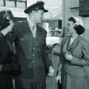 Van Johnson, Eileen Heckart, Jane Wyman