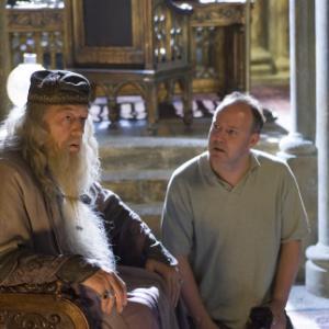 Michael Gambon and David Yates in Haris Poteris ir Fenikso brolija 2007