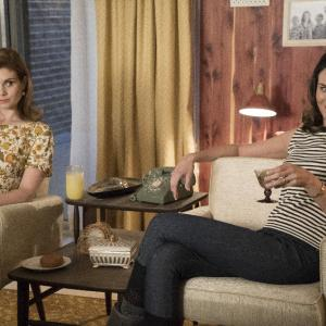 Still of JoAnna Garcia Swisher and Odette Annable in The Astronaut Wives Club (2015)