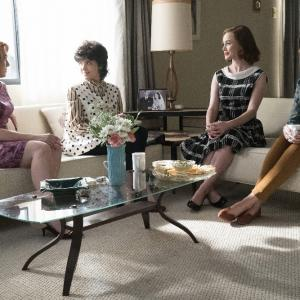 Still of Odette Annable, Dominique McElligott, Erin Cummings and Holley Fain in The Astronaut Wives Club (2015)