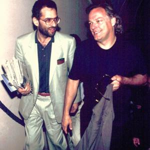 Riccardo Mario Corato and David Guilmore during the production of