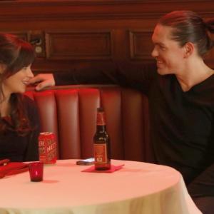 Still of Zooey Deschanel and Steve Howey in New Girl 2011
