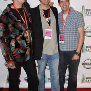 On the red carpet at the Nashville Film Festival Jeremy Childs Joshua Childs and Jai Childs