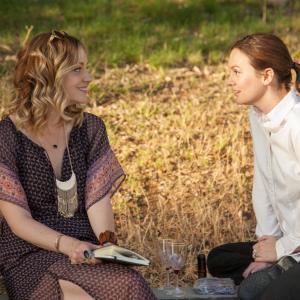 Still of Leighton Meester and Abby Elliott in Life Partners (2014)