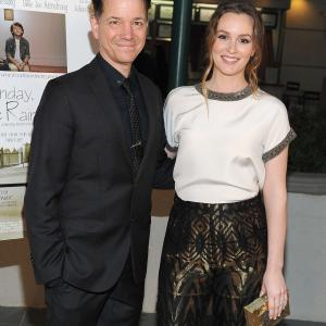 Frank Whaley and Leighton Meester at event of Like Sunday, Like Rain (2014)