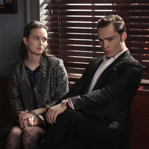 Still of Leighton Meester and Ed Westwick in Liezuvautoja: New York, I Love You XOXO (2012)