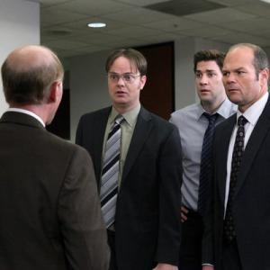 Still of Rainn Wilson and John Krasinski in The Office 2005