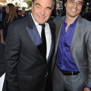 Oliver Stone and Antonio Jaramillo at event of Laukiniai 2012