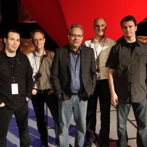Lewis Black In GOD WE RUST with Director  Adam Dubin Tom Case Producers  Jack Gulick  Ben Brewer
