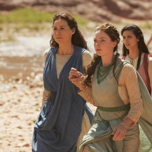 Still of Minnie Driver, Rebecca Ferguson and Morena Baccarin in The Red Tent (2014)