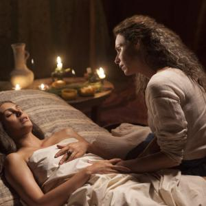Still of Minnie Driver and Morena Baccarin in The Red Tent (2014)