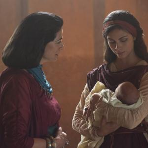 Still of Hiam Abbass and Morena Baccarin in The Red Tent 2014