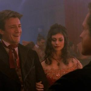 Still of Nathan Fillion and Morena Baccarin in Firefly (2002)