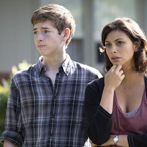 Still of Morena Baccarin, Jackson Pace, Jessica Brody and Chris Brody in Tevyne: Still Positive (2013)