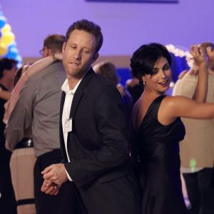 Still of Michael Rosenbaum and Morena Baccarin in Back in the Day (2014)