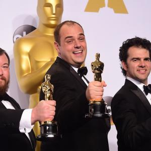 Ben Wilkins Craig Mann and Thomas Curley at event of The Oscars 2015
