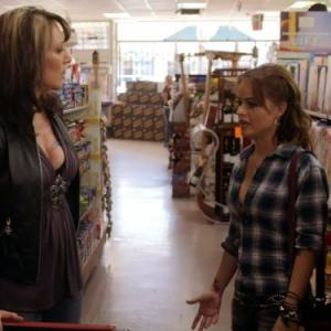 Still of Katey Sagal and Taryn Manning in Sons of Anarchy 2008