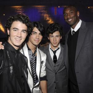 Kobe Bryant, Kevin Jonas, Joe Jonas, Nick Jonas