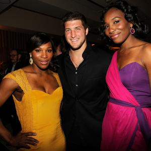 Serena Williams, Venus Williams, Tim Tebow
