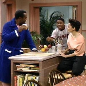 Still of Lisa Bonet Bill Cosby and MalcolmJamal Warner in The Cosby Show 1984