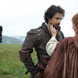 Still of Santiago Cabrera and Amy Nuttall in The Musketeers 2014