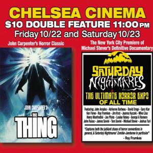 Saturday Nightmares short film screening promo at Chelsea Cinema NYC