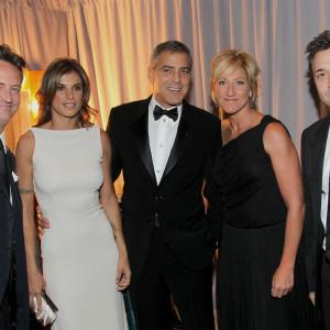 George Clooney, Matthew Perry, Edie Falco and Elisabetta Canalis