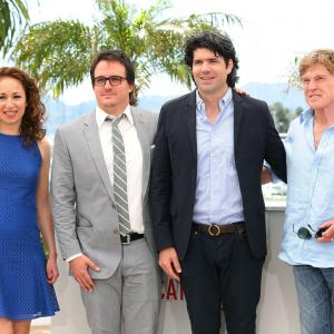 Robert Redford, Neal Dodson, J.C. Chandor and Anna Gerb at event of All Is Lost (2013)