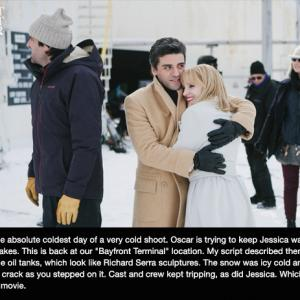 J.C. Chandor, Oscar Isaac and Jessica Chastain in A Most Violent Year (2014)