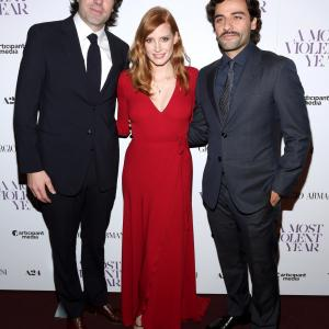 J.C. Chandor, Oscar Isaac and Jessica Chastain at event of A Most Violent Year (2014)