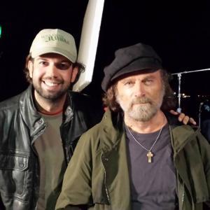 With Franco Nero on the set of Mamula
