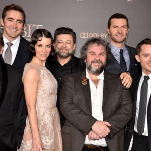 Elijah Wood, Peter Jackson, Richard Armitage, Graham McTavish, Andy Serkis, Stephen Hunter, Lee Pace, Evangeline Lilly