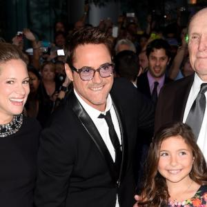 Emma Tremblay, Susan Downey, Robert Downey Jr., and Robert Duvall at the TIFF premiere of The Judge