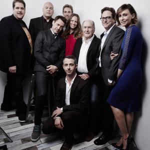 Vincent D'Onofrio, Robert Downey Jr., Robert Duvall, David Dobkin, Vera Farmiga, Dax Shepard and Susan Downey at event of Teisejas (2014)