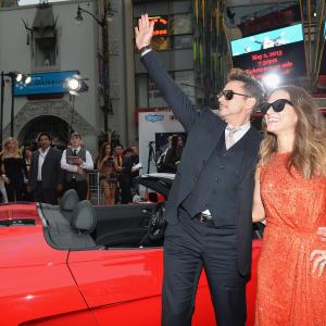 Robert Downey Jr. and Susan Downey at event of Gelezinis zmogus 3 (2013)