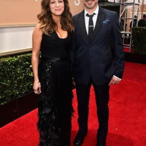 Robert Downey Jr. and Susan Downey at event of The 72nd Annual Golden Globe Awards (2015)