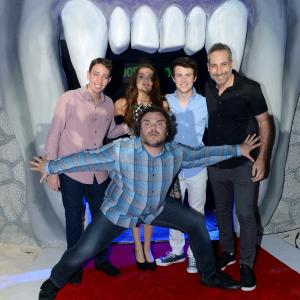 Jack Black, Rob Letterman, Andrew Goodman, Dylan Minnette, Ryan Lee, Odeya Rush