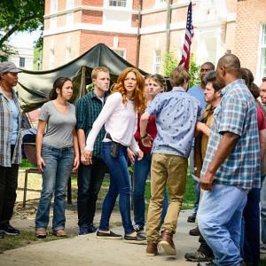 Still of Rachelle Lefevre and Colin Ford in Under the Dome (2013)