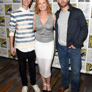 Marg Helgenberger, Mike Vogel and Colin Ford at event of Under the Dome (2013)