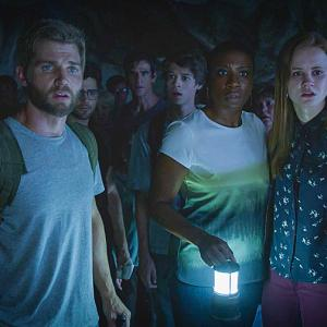 Still of Eddie Cahill, Mike Vogel, Colin Ford, Aisha Hinds, Max Ehrich and Mackenzie Lintz in Under the Dome (2013)