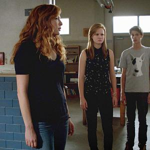 Still of Rachelle Lefevre, Colin Ford, Karla Crome and Mackenzie Lintz in Under the Dome (2013)