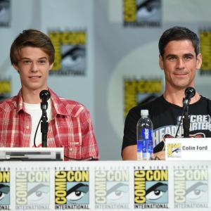Eddie Cahill and Colin Ford at event of Under the Dome (2013)