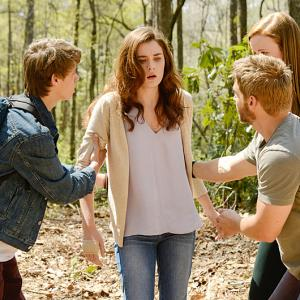 Still of Mike Vogel, Colin Ford, Mackenzie Lintz and Grace Victoria Cox in Under the Dome (2013)