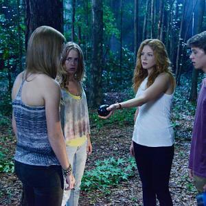 Still of Rachelle Lefevre, Colin Ford, Britt Robertson and Mackenzie Lintz in Under the Dome (2013)