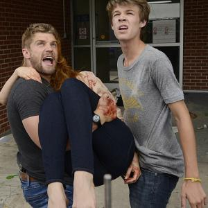 Still of Rachelle Lefevre, Mike Vogel and Colin Ford in Under the Dome (2013)