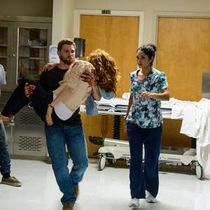 Still of Rachelle Lefevre, Mike Vogel, Colin Ford and Crystal Martinez in Under the Dome (2013)