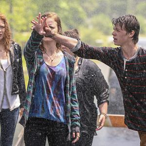Still of Rachelle Lefevre, Jolene Purdy, Colin Ford and Mackenzie Lintz in Under the Dome (2013)